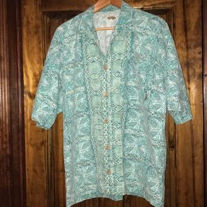 Vintage Quicksilver large tropical shirt